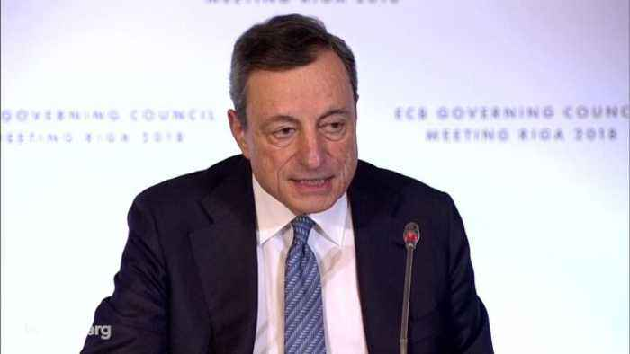 ECB's Draghi on QE Exit, Inflation, Growth: Statement