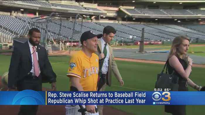News video: Steve Scalise To Play In Annual Congressional Baseball Game Year After Being Shot