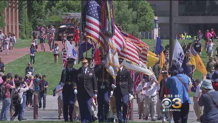 Patriots Celebrate Army Birthday, Flag Day At Independence Hall