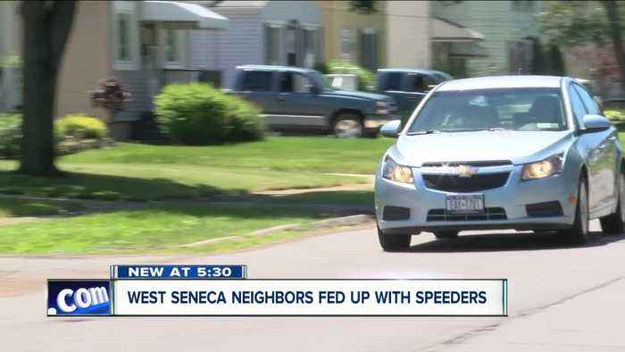 News video: West Seneca has a trick for fast drivers in neighborhoods