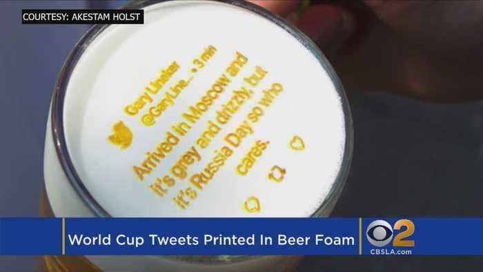 News video: Forget Your Phone? New Machine Prints Tweets In Your Beer