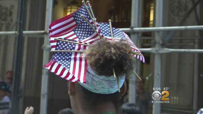 News video: Flag Day Parade Marches Through Manhattan