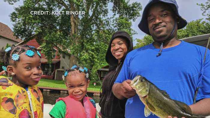 Service Members, Vets Go Fishing On Flag Day