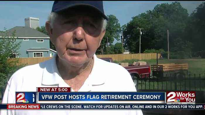 News video: Tulsa VFW hosts flag retirement ceremonies