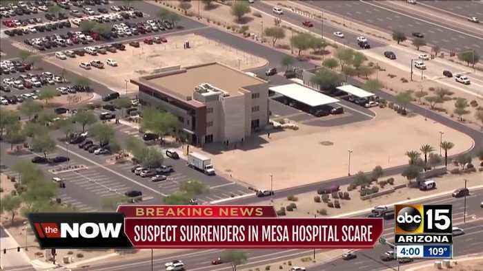News video: Shot fired near Banner Gateway hospital in Gilbert, one person in custody