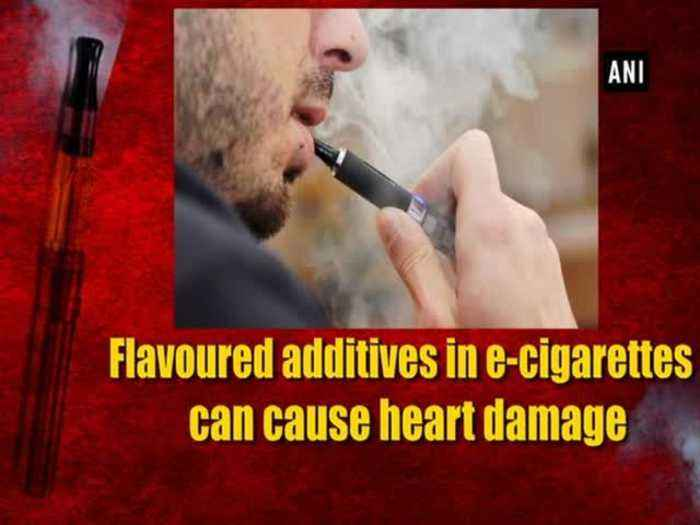 Flavoured additives in e-cigarettes can cause heart damage