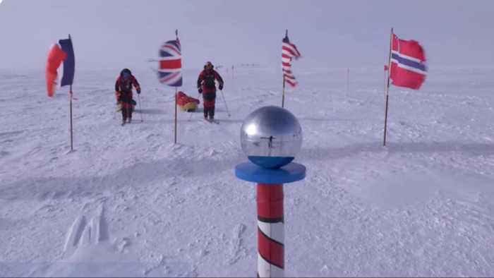 News video: Father and son trek to South Pole using only renewable energy