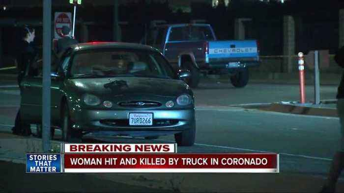 Woman hit by truck on Silver Strand, dies