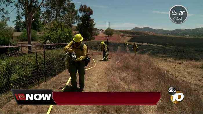 News video: Brush fire scorches 35 acres in Ramona