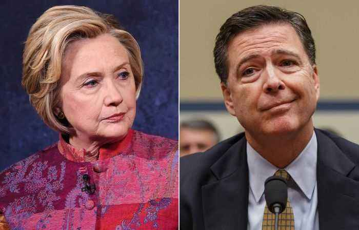 Hillary Clinton delivers biting response to revelations ex-FBI Director James Comey used personal email for official business