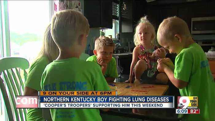 News video: Cooper's Troopers support Kentucky boy fighting lung disease
