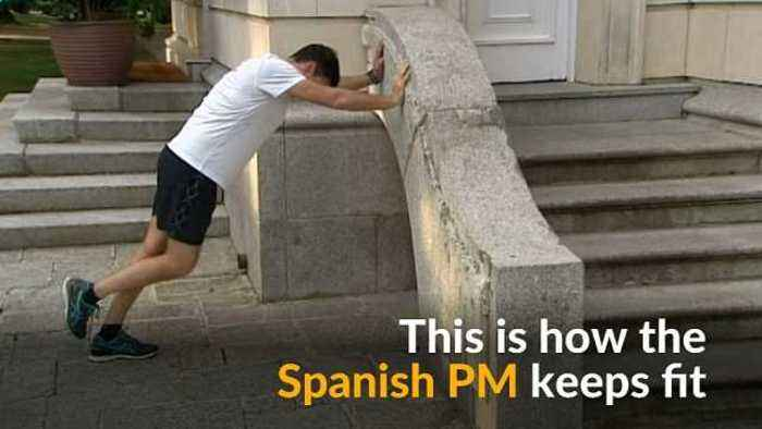 News video: Spain's new PM shows how he stays fit