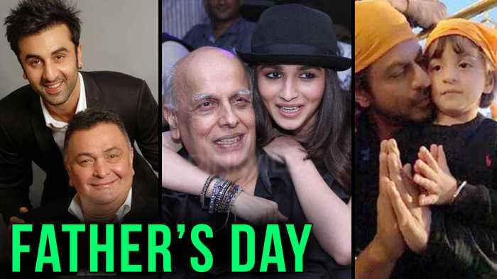 News video: Bollywood Celebrates Fathers Day | Aishwarya Rai, Alia Bhatt, Janhvi Kapoor And More