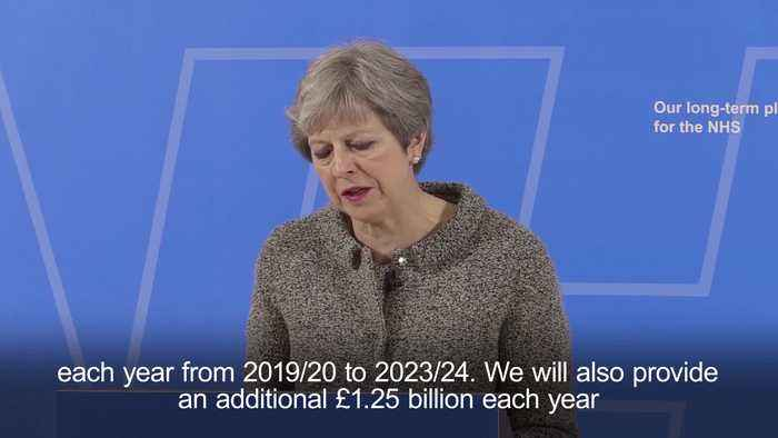 Watch Theresa May's June statement saying that part of a £20.5 billion-a-year boost to the NHS budget coming from a Brexit Dividend