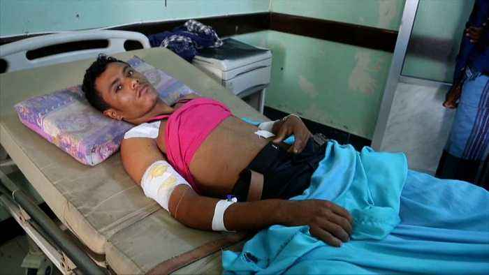 News video: Hospitals in the Yemeni port of Hodeida are struggling to cope