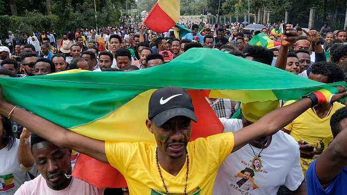 News video: Several people killed in explosion at a rally for new Ethiopian PM
