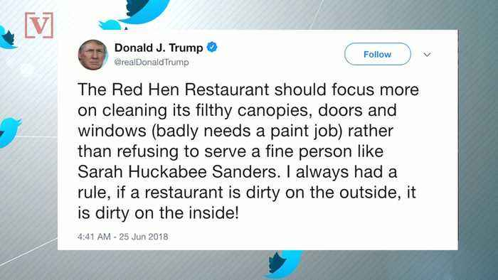 News video: President Trump Attacks 'Dirty' Restaurant That Kicked Out Sarah Sanders