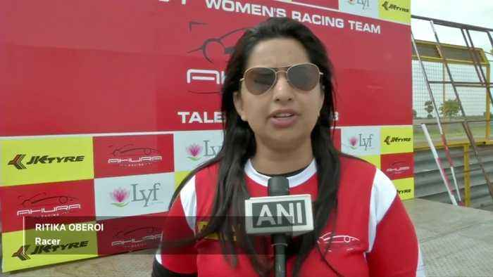 India's first all-female motor racing team test training