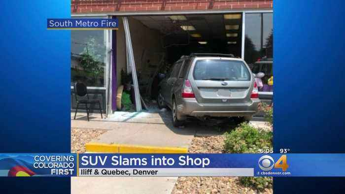 SUV Drives Into Flower Shop