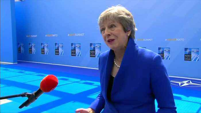 May wishes England luck in World Cup semis