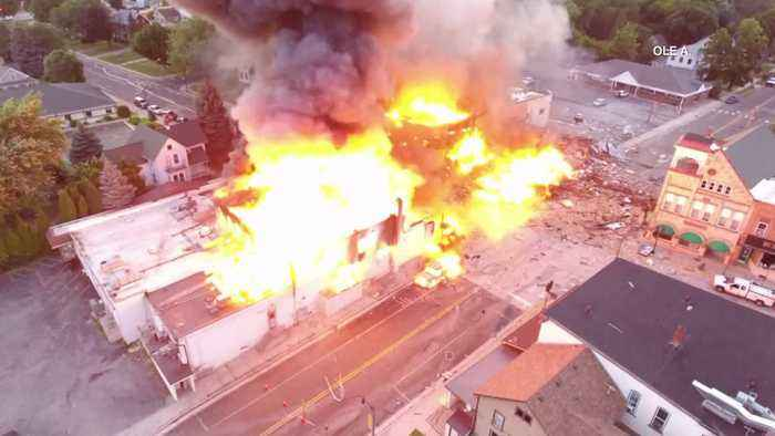 News video: Veteran Firefighter Killed When Natural Gas Leak Leads to Explosion in Wisconsin