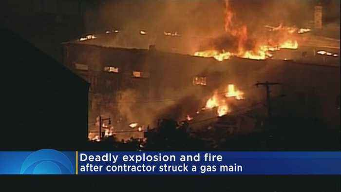 News video: Explosion Rocks Wis. Town After Gas Main Struck; 1 Firefighter Killed