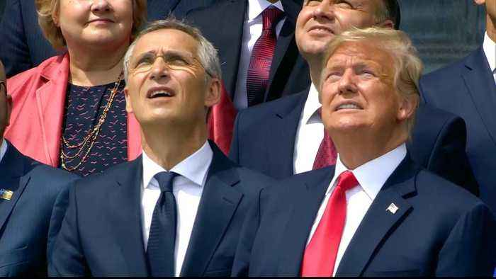 News video: NATO summit: Trump says Germany is 'totally controlled' by Russia