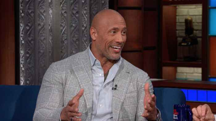 News video: Dwayne Johnson And Stephen Drink Tequila, Compare Eyebrows