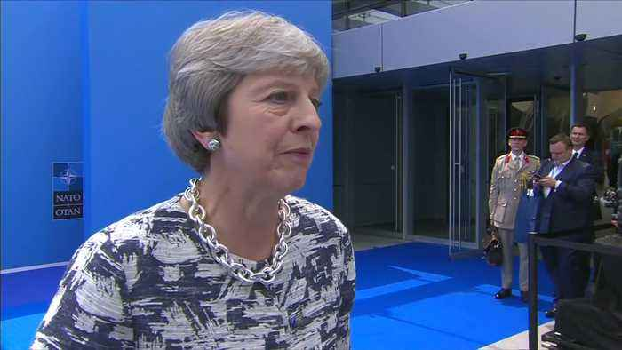News video: May defends Brexit policy after Trump casts doubt