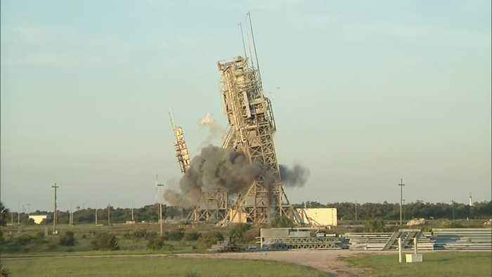 News video: Cape Canaveral Launch Towers Demolished