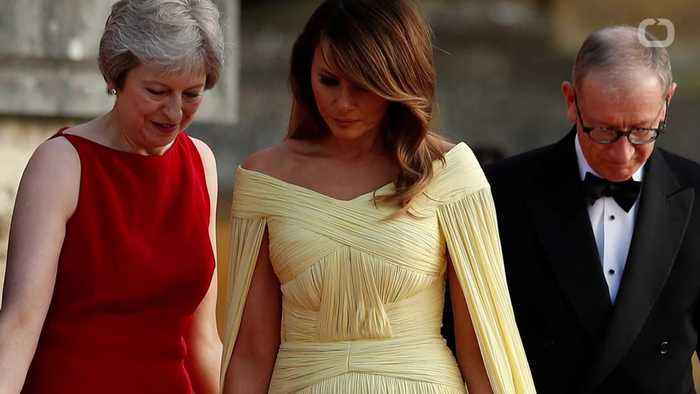 News video: Melania Trump Goes Disney For Dinner With British Prime Minister