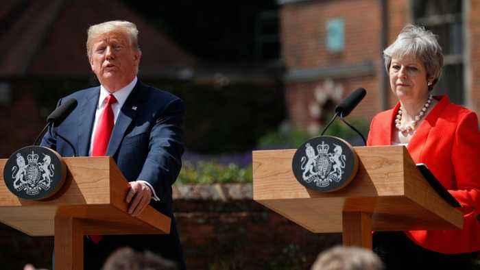 Trump Says May's Brexit Plan Kills Hope of A U.S. Trade Deal
