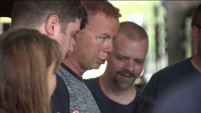News video: Firefighter Injured in Wisconsin Explosion Welcomed Home from Hospital