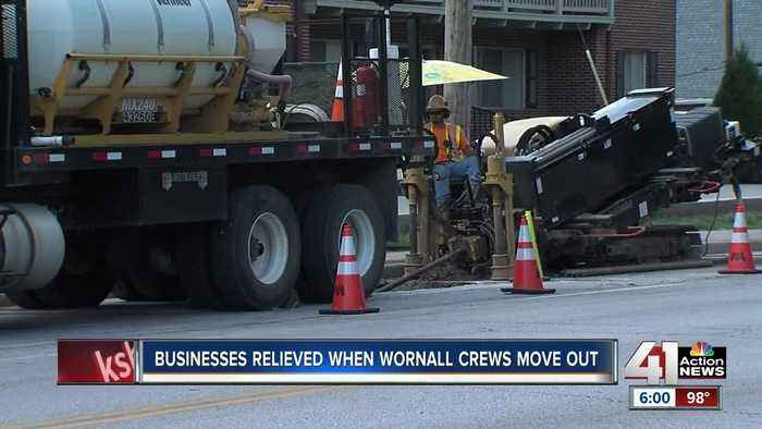 Businesses relieved as Wornall crews move out