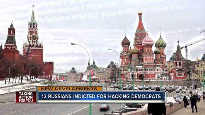 12 Russians indicted in Mueller probe for hacking Democrats in 2016 election