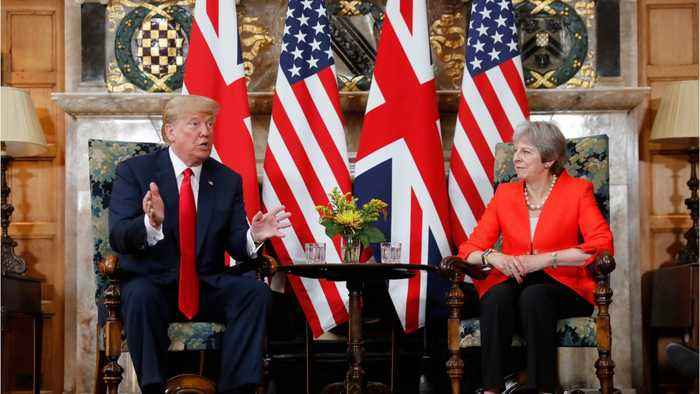 News video: UK PM May Says Donald Trump Told Her to Sue the EU Over Brexit