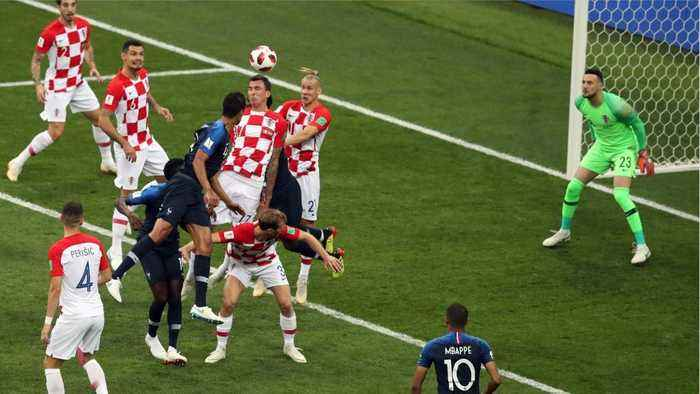 News video: Mario Mandzukic Scores First Own Goal In World Cup Finals History