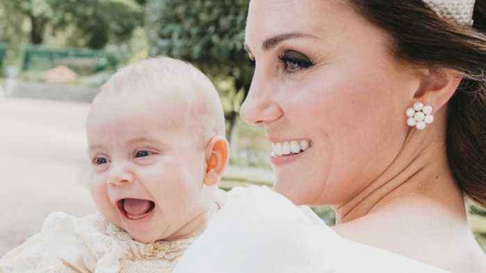 Prince Louis Flashes Wide Smile With Kate Middleton During His Christening