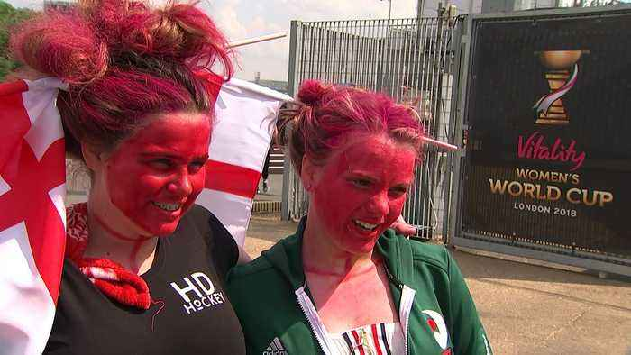 News video: Hockey fans flock to Olympic Park for Women's World Cup