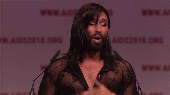Singer Conchita Wurst opens the 22nd International AIDS Conference