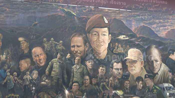 Rescuers of Thai soccer team honored with mural