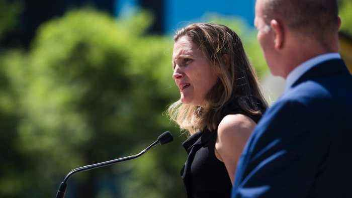 Canadian Embassy in Saudi Arabia still open: Freeland