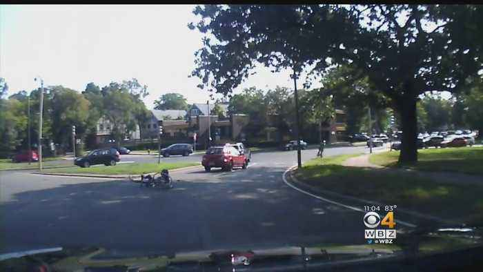 News video: Dashcam Video Shows Hit & Run In Jamaica Plain