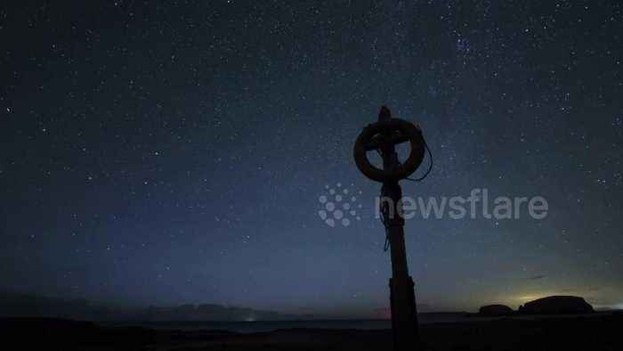 Time-lapse video captures Perseid meteor shower over night sky of Northern Ireland