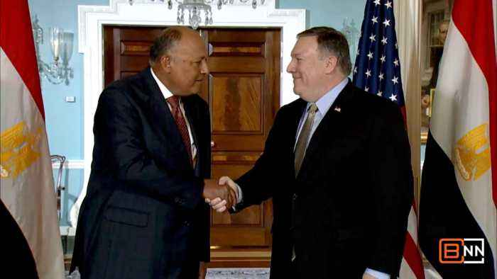 Pompeo Meets With Egyptian Foreign Minister Sameh Shoukry