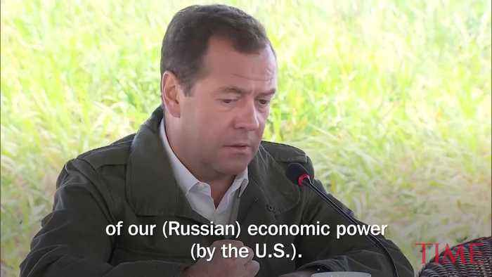 News video: Russian Prime Minister Says U.S. Sanctions Will Be Considered an Act of 'Economic War'