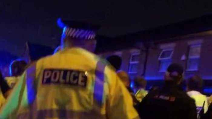 Aftermath of Moss Side shooting