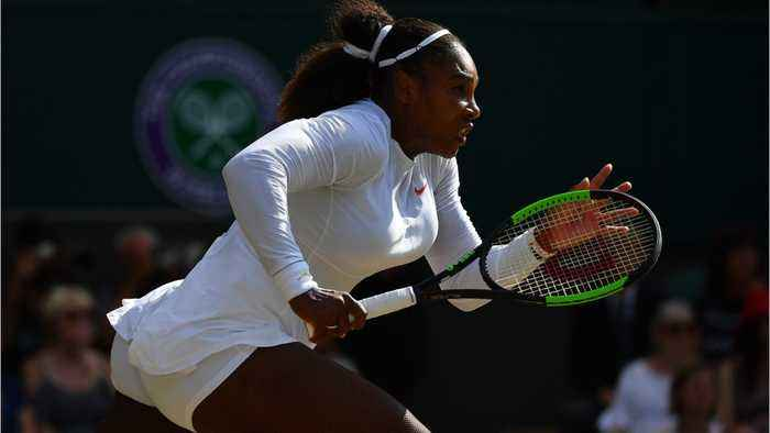 News video: Serena Williams New Tennis Gear Is Off White