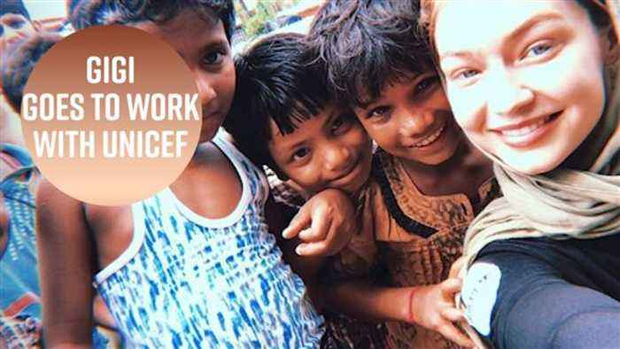 Gigi Hadid spends time with Rohingya refugees in Bangladesh