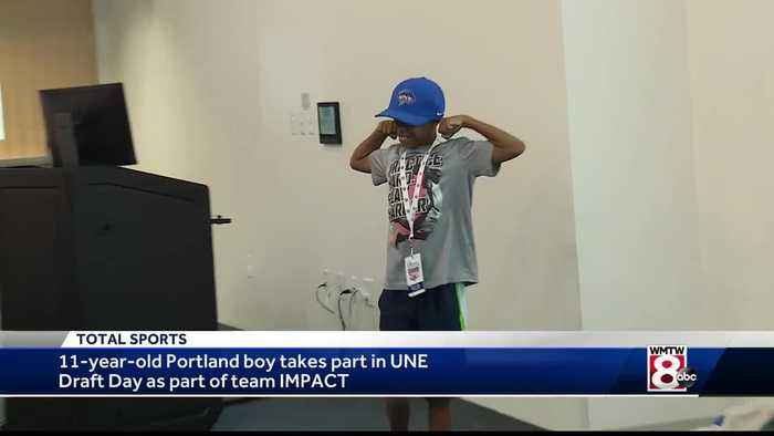 Portland boy participates in UNE draft as part of Team IMPACT